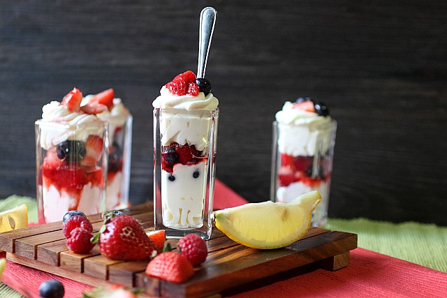 Berry Lemonade Parfaits {mind-over-batter.com}