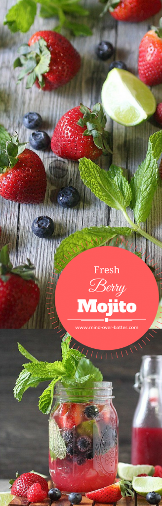 Fresh Berry Mojito -- www.mind-over-batter.com