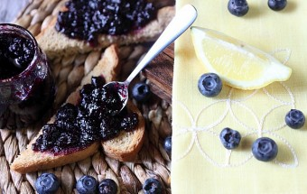 Blueberry Lemon Refrigerator Jam {mind-over-batter.com}