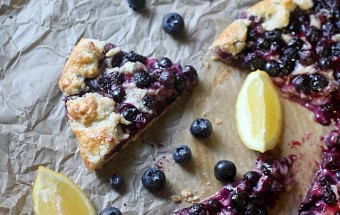 Blueberry Lemon Galette {mind-over-batter.com}