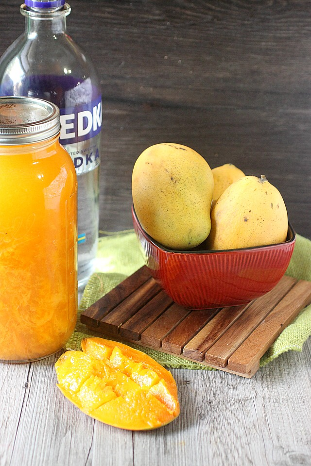 Mango Infused Vodka {mind-over-batter.com}