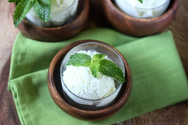 Mojito Ice Cream {mind-over-batter.com}