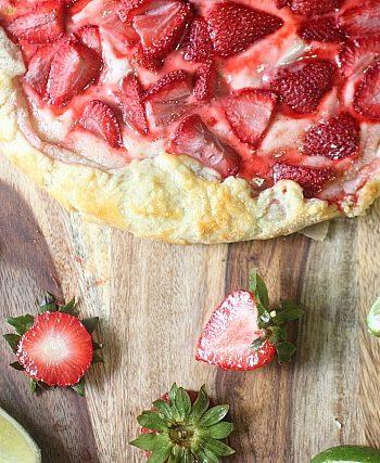 Strawberry Lime Galette {mind-over-batter.com}