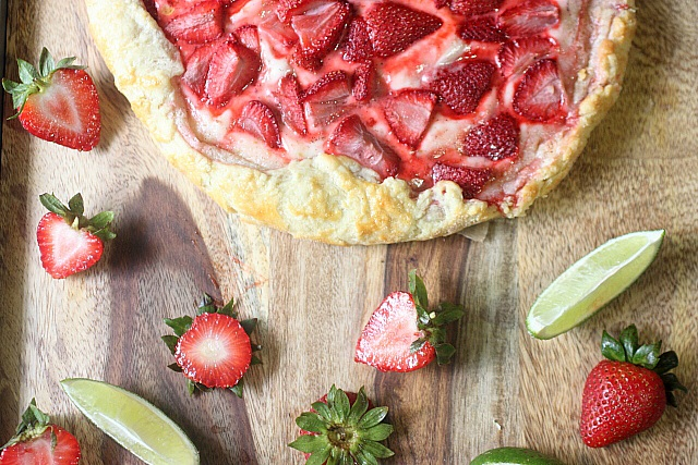 Strawberry Lime Galette {mind-over-batter.com}