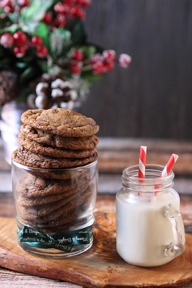 Chewy Chocolate Gingerbread Cookies {mind-over-batter.com}