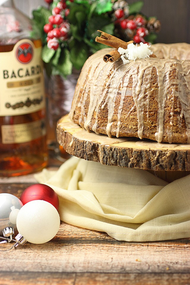 Coquito Cinnamon Roll Bundt Cake {mind-over-batter.com}