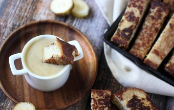 Banana French Toast Sticks {mind-over-batter.com}