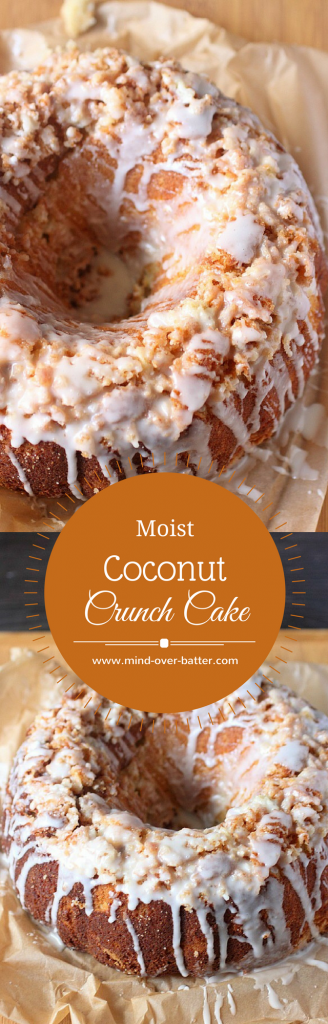 Moist Coconut Crunch Cake -- www.mind-over-batter.com