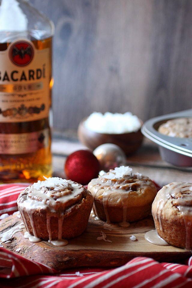 Coquito Sticky Buns {mind-over-batter,com}