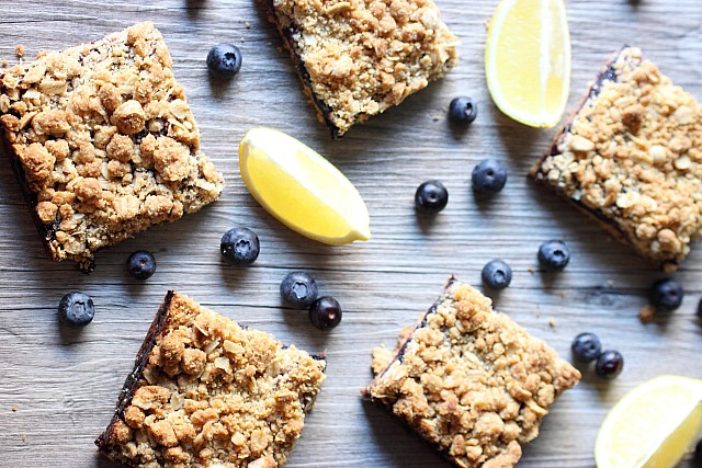Blueberry Lemon Crumble Bars {mind-over-batter.com}
