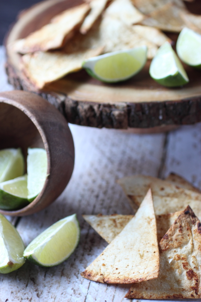 Chili Lime Tortilla Chips {mind-over-batter.com}
