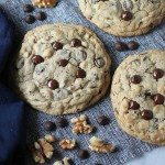 Jumbo Chocolate Chip Walnut Cookies