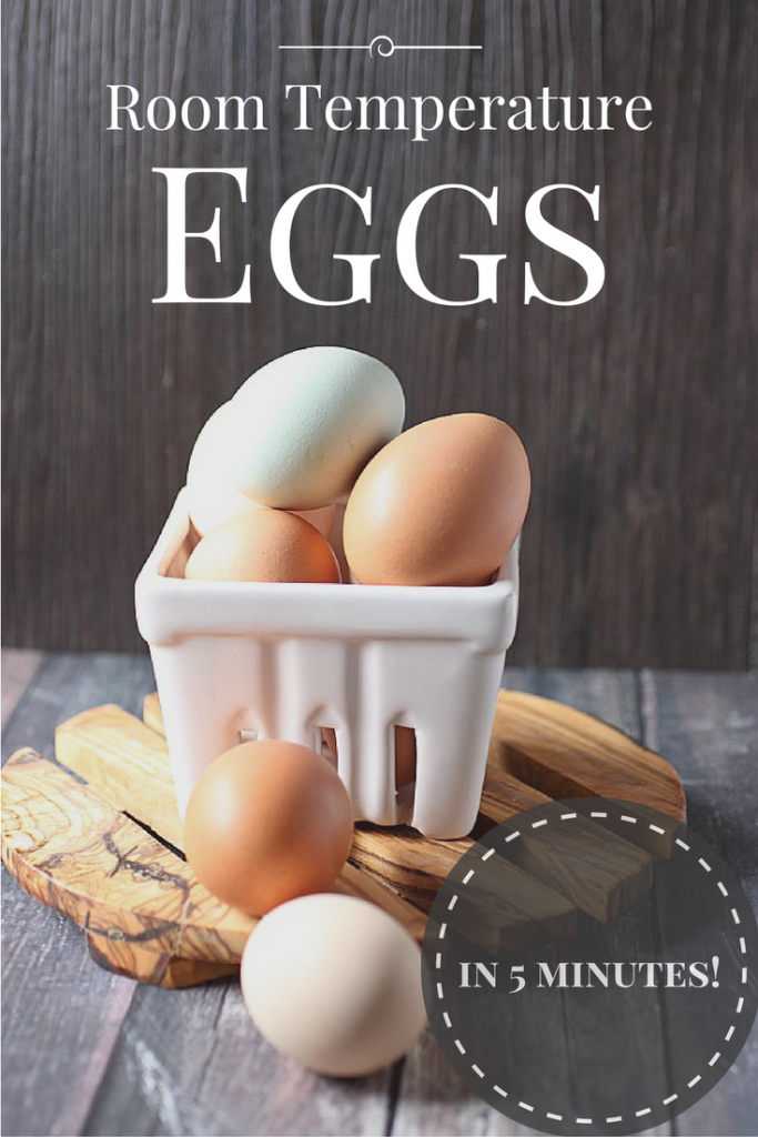 Room Temperature Eggs in 5 minutes with this easy tip! www.mind-over-batter.com