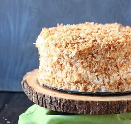Coconut Tres Leches Cake {mind-over-batter.com}