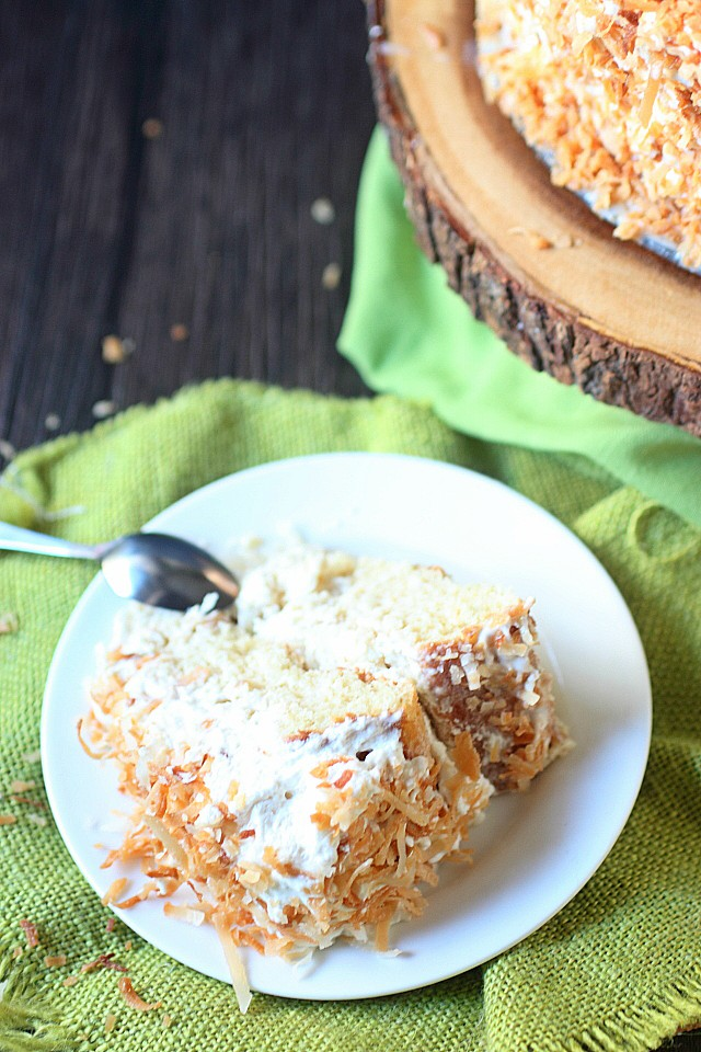 Coconut Tres Leches Cake {mind-over-batter.com}