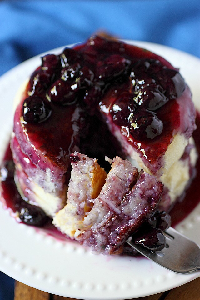 Blueberry Coconut Pancakes {mind-over-batter.com}