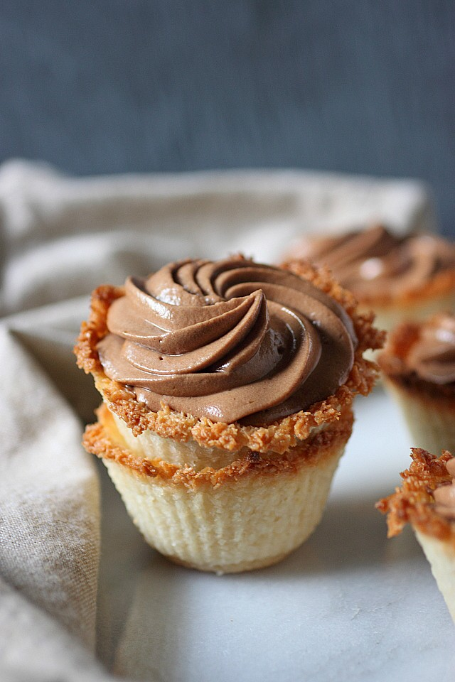 Toasted Coconut Chocolate Mousse Bites {mind-over-batter.com}