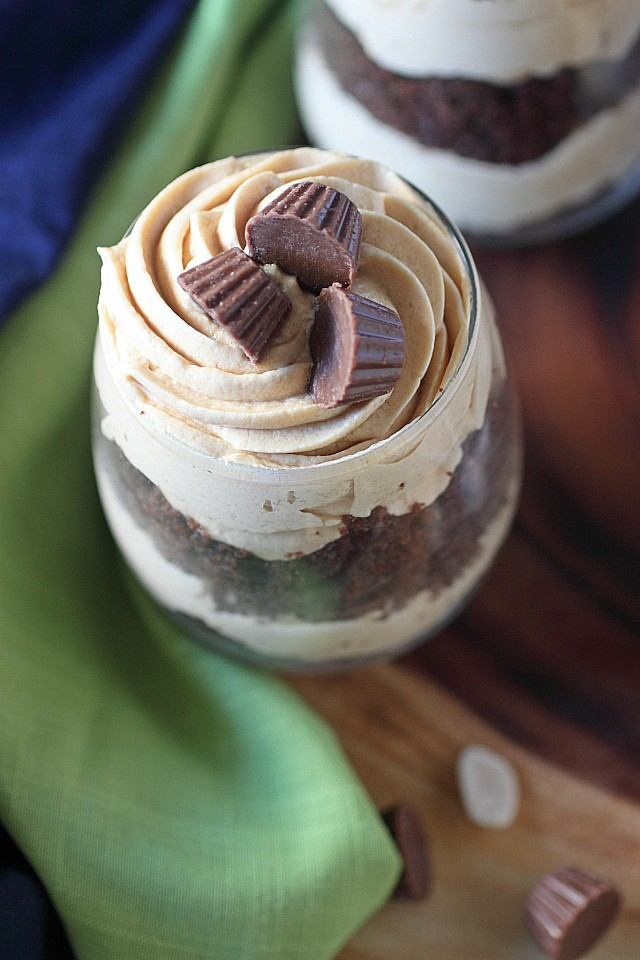 Chocolate Peanut Butter Lover's Parfaits {mind-over-batter.com}