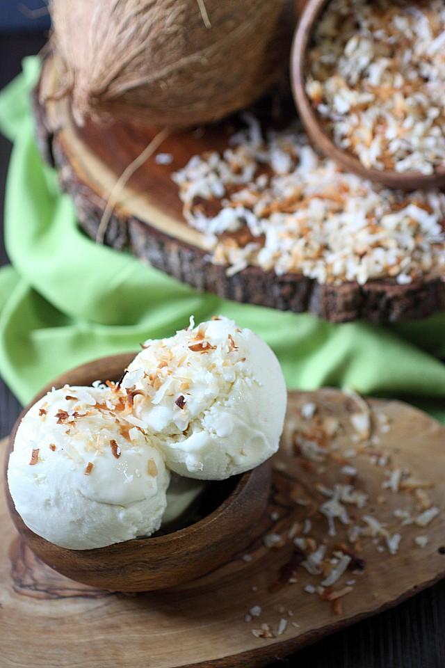 Coconut Ice Cream {mind-over-batter.com}