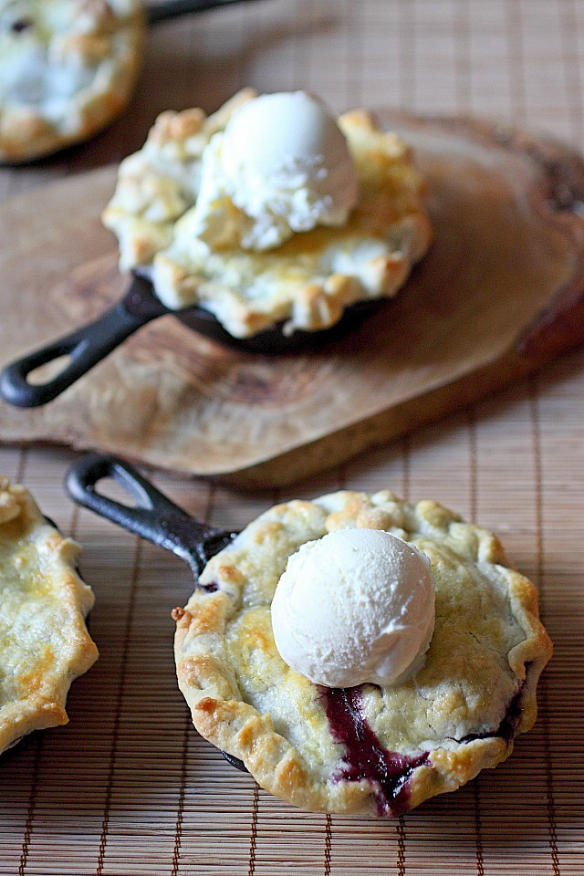 Very Berry Blueberry Mini Pies {mind-over-batter.com}