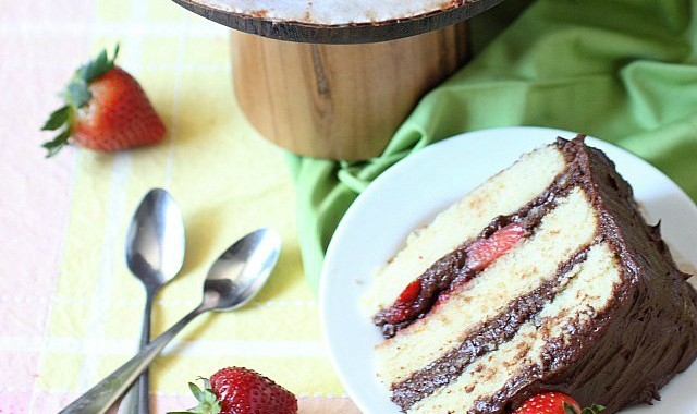 Chocolate & Strawberry Layer Cake
