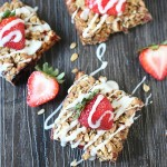 Strawberry Almond Crumble Bars
