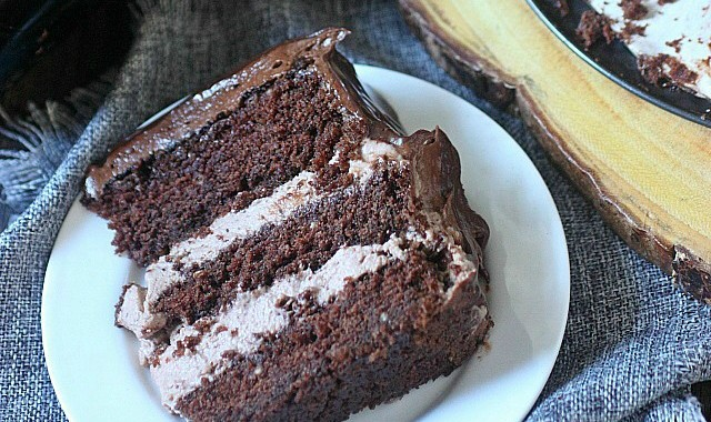 Baileys Irish Cream Chocolate Mousse Cake