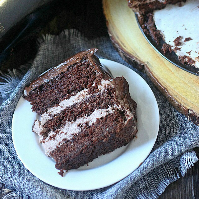 Baileys Irish Cream Chocolate Mousse Cake | Mind Over Batter
