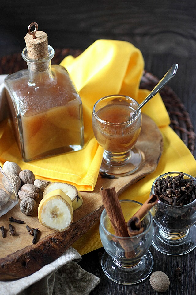 A sweet creamy liqueur with the concentrated flavor of ripe bananas and warm fall spices. Use this liqueur for drinking, baking, or pretty much whenever you need a spiced banana punch in the taste buds. www.mind-over-batter.com
