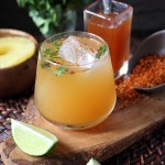 Spicy Roasted Pineapple Cilantro Cocktail