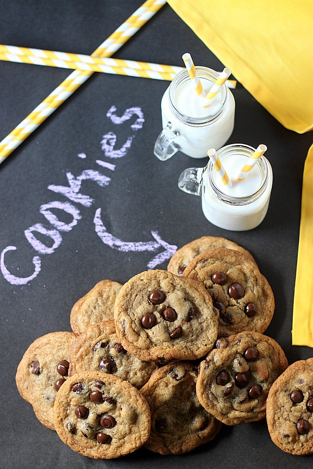 Soft & Chewy Chocolate Chip Cookies Recipe - www.mind-over-batter.com