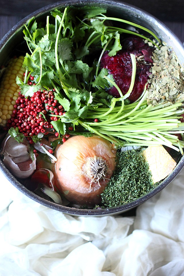 Nothing is more satisfying than a steaming bowl of soup made with homemade vegetable stock. Easy to make – Just chop your leftover veggies and simmer! www.mind-over-batter.com
