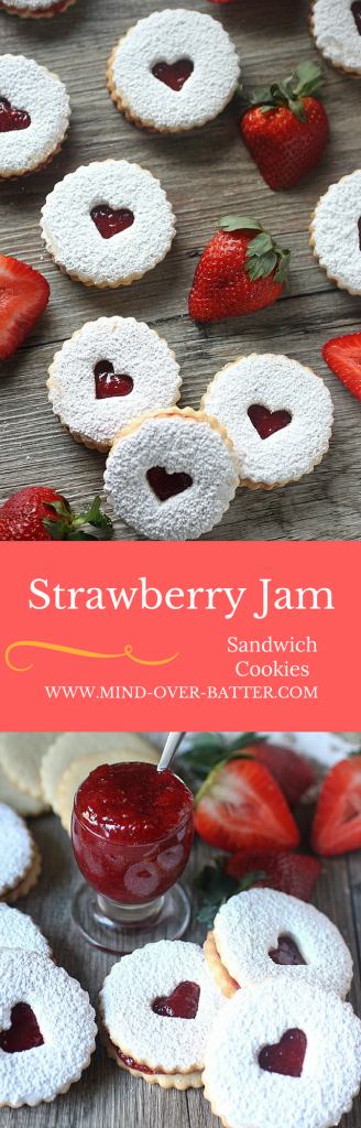 Strawberry Sandwich Cookie Recipe -- www.mind-over-batter.com