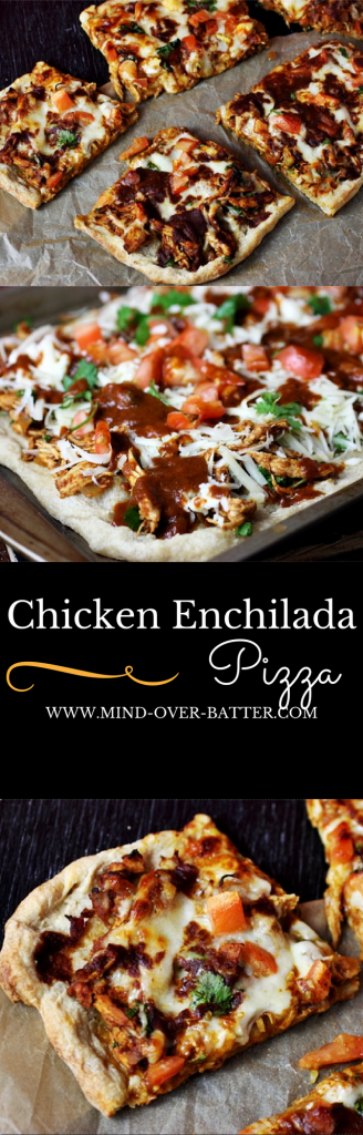 Savory Chicken Enchilada Pizza -- www.mind-over-batter.com