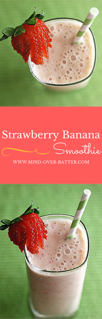 Strawberry Banana Smoothie -- www.mind-over-batter.com