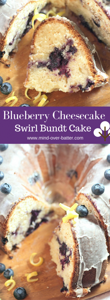 Blueberry Cheesecake Swirl Bundt Cake -- www.mind-over-batter.com