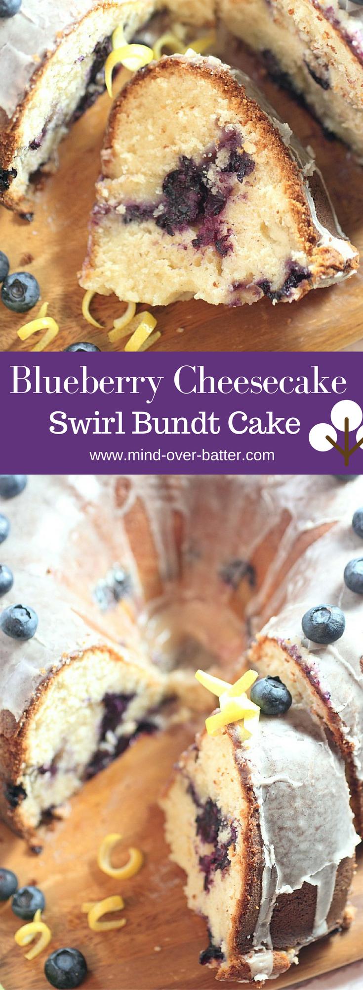 Blueberry Cheesecake Swirl Bundt Cake Www Mind Over Batter Com