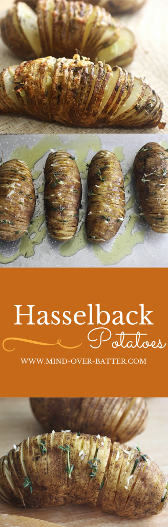 Hasselback potatoes - aka - The best side dish ever!!! www.mind-over-batter.com