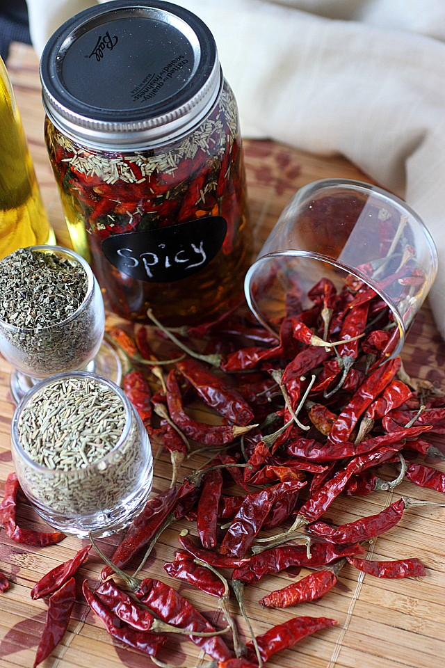 Spicy Chili de Arbol Oil -- www.mind-over-batter.com