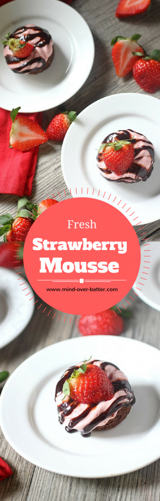 Fresh Strawberry Mouse - www.mind-over-batter.com