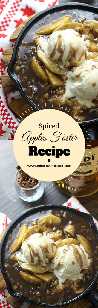 Spiced Apples Foster Recipe -- www.mind-over-batter.com