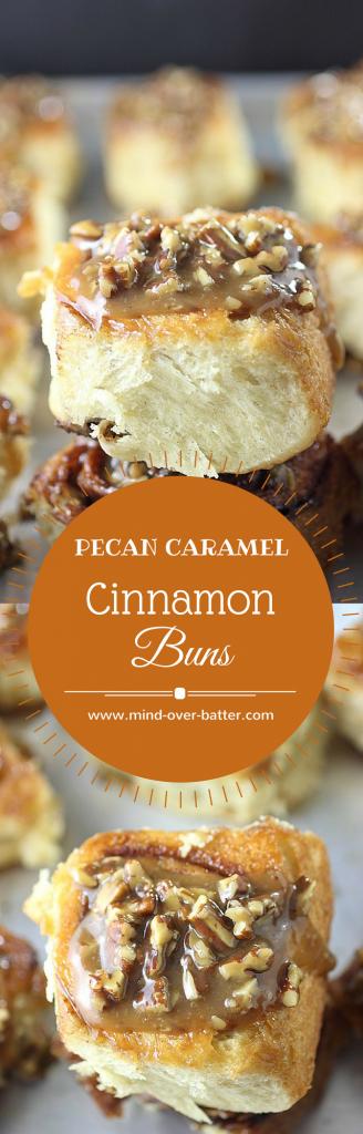 Caramel Pecan Cinnamon Buns -- www.mind-over-batter.com