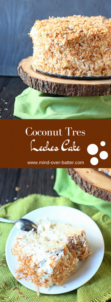 Coconut Tres Lechese Cake -- www.mind-over-batter.com