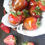 Toffee Covered Strawberries