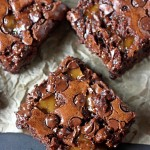 Gooey and Chewy Toffee Brownies