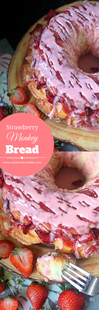 Strawberry Monkey Bread -- www.mind-over-batter.com