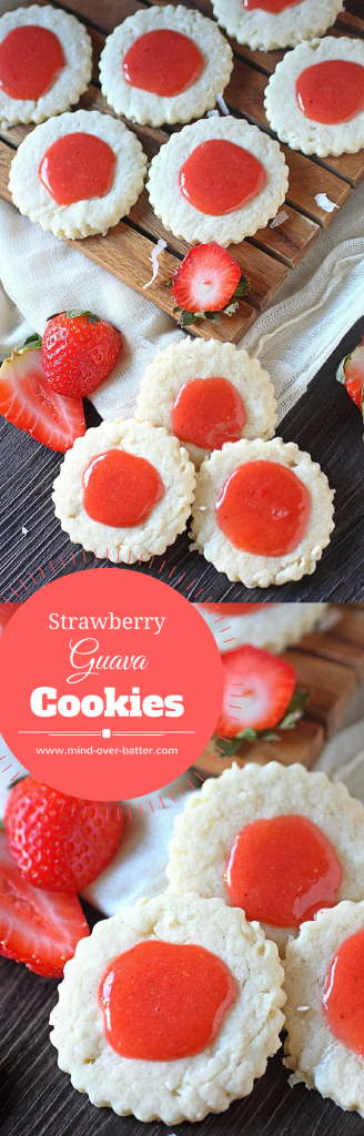 Strawberry Guava Cookies -- www.mind-over-batter.com