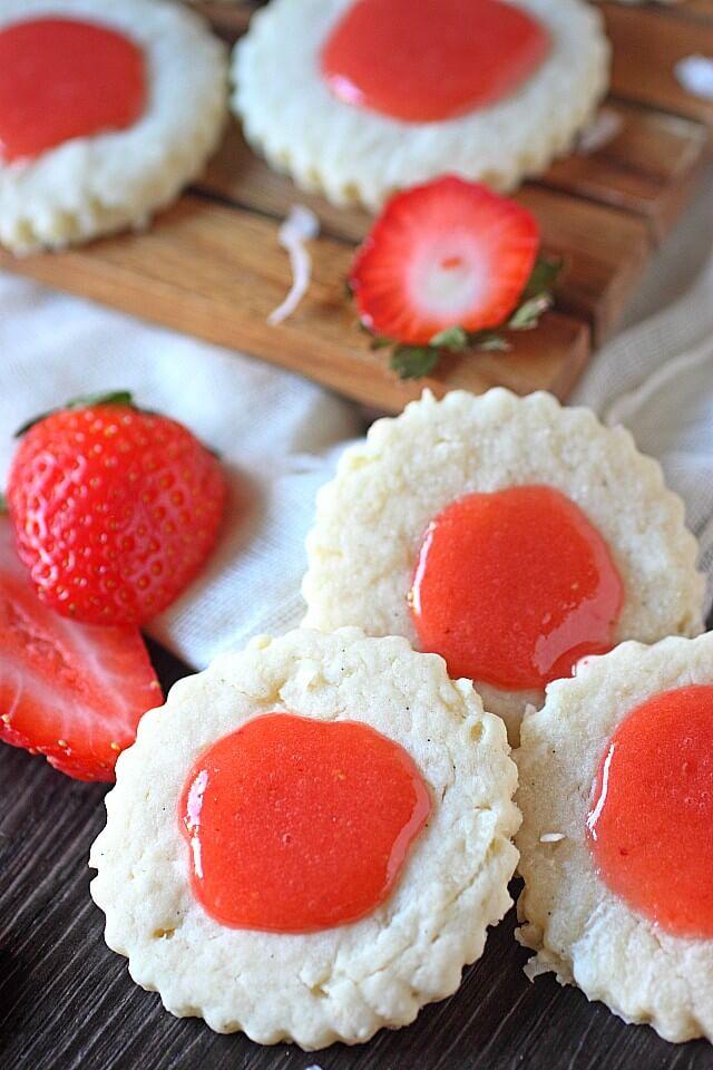 Guava-Berry Coconut Cookies --- www.mind-over-batter.com