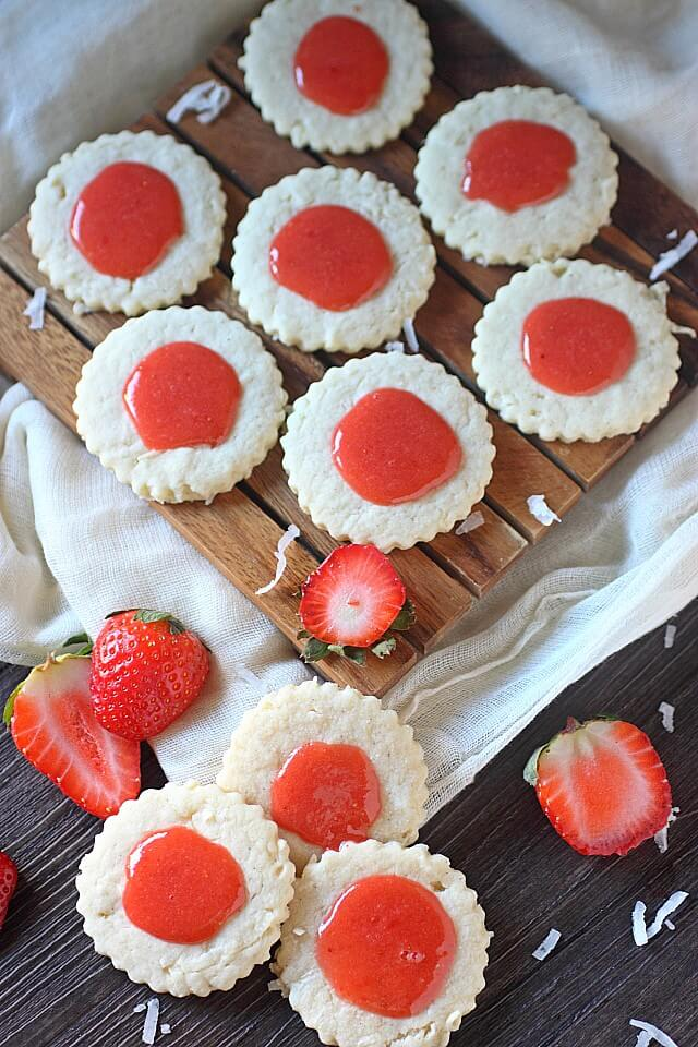 Guava-Berry Coconut Cookies -- www.mind-over-batter.com