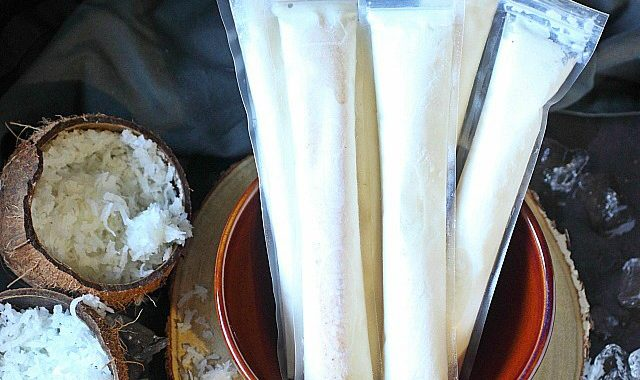 Tropical Coconut Rum Pops
